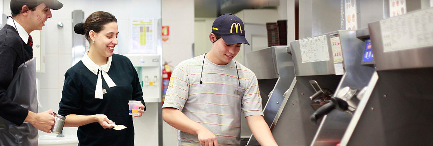 Step behind the counter and into our kitchen. Click here to see how your food is prepared and learn more about what makes McDonald's different from all the rest.